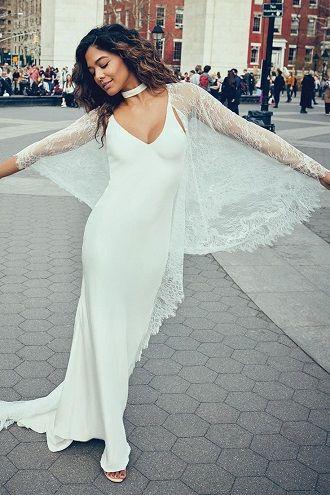 накидка на весільну сукню