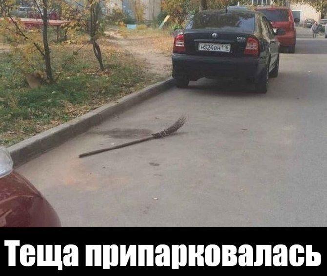 теща припарковалась