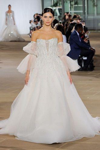 модное свадебное платье с рукавами