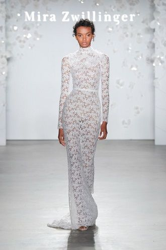 платье невесты с воротником