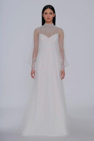 сукня для нареченої з комірцем