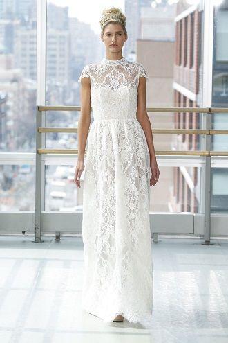 весільні сукні з комірцями