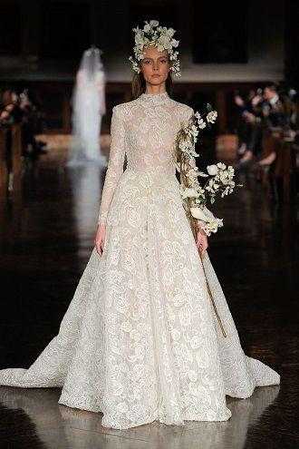 свадебный наряд с воротником