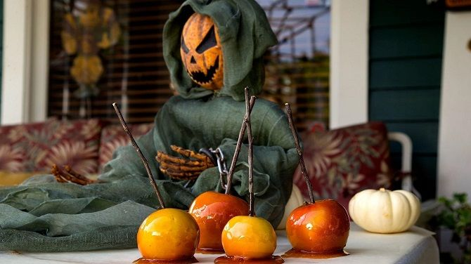 Блюда на Хэллоуин с яблоками