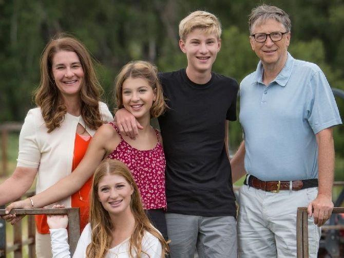 Білл Гейтс с дітьми