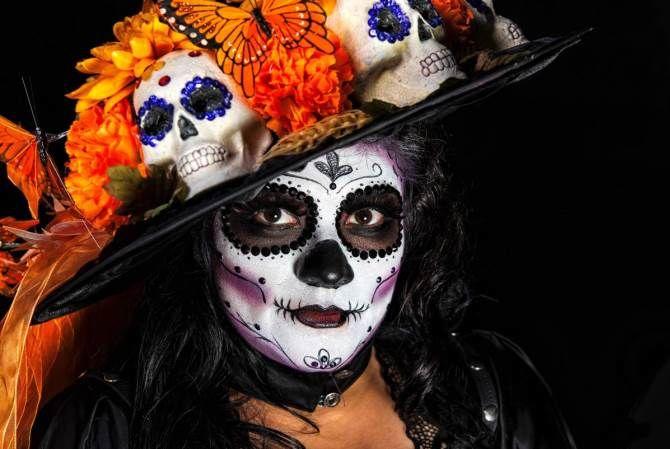 день мертвых макияж