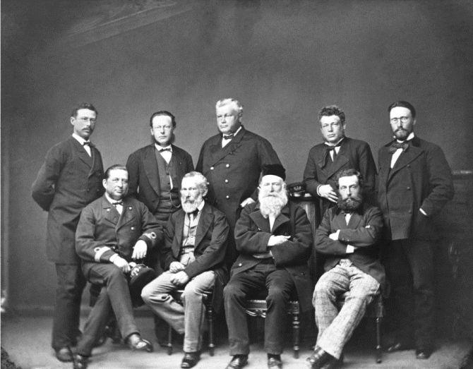 врач Даниель Корнелиус Даниельсен с коллегами