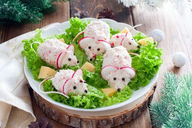 салат крыса новый год
