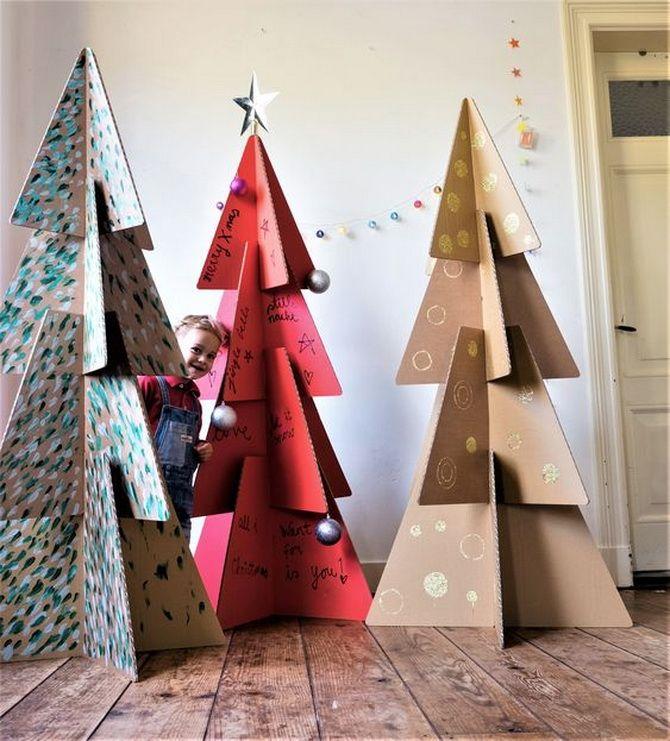 большая новогодняя елка своими руками