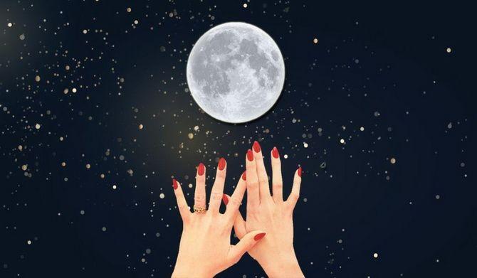луна маникюр