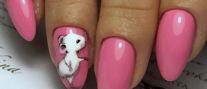 новорічний дизайн нігтів