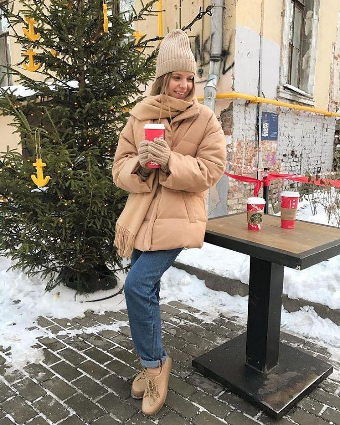 модные оттенки пуховиков на зиму