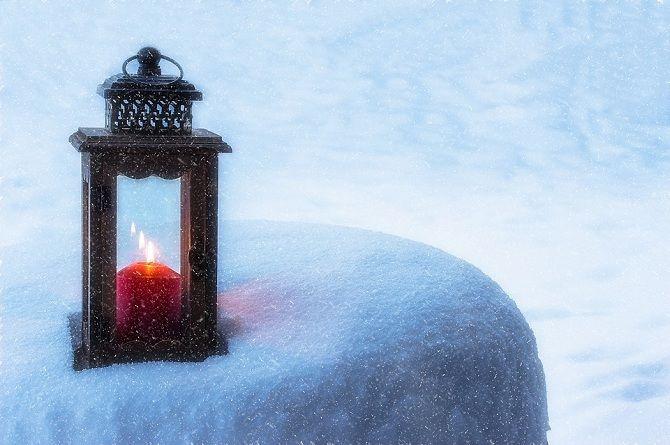 светильник на морозе