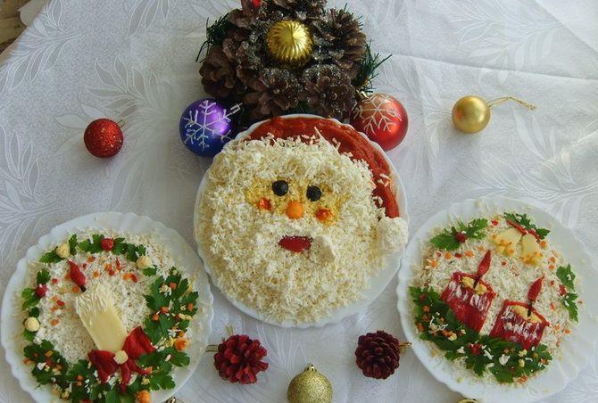 Как украсить салат на Новый год