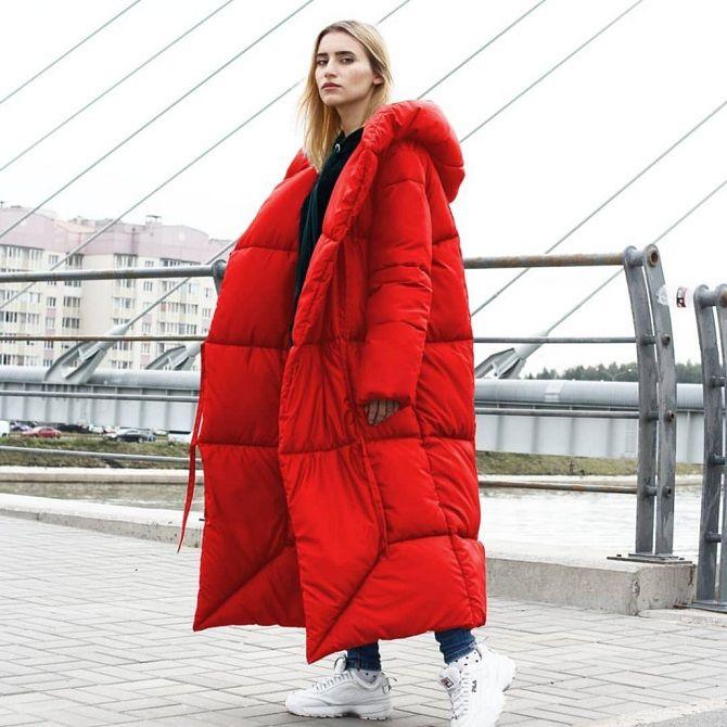 пуховики-одеяла красный