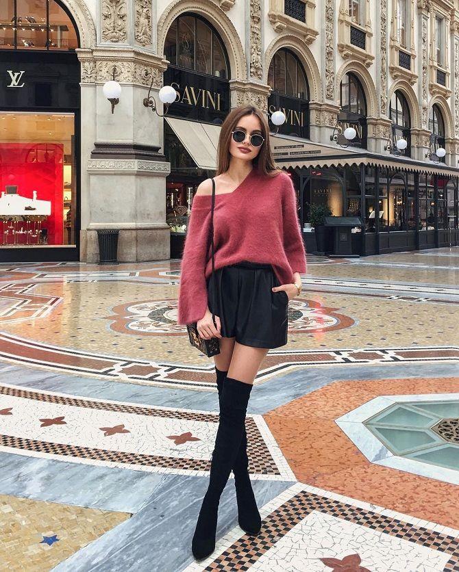 Свитер и шорты: модные тренды зимы 2019-2020
