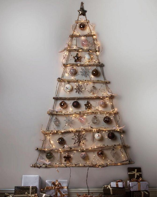 Настенная новогодняя елка  фото