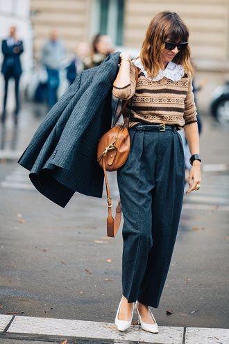 10 стильных вариантов, как носить вязаный свитер зимой 2020-2021 года 2