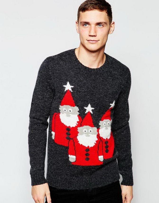 мужские свитера с веселыми рисунками