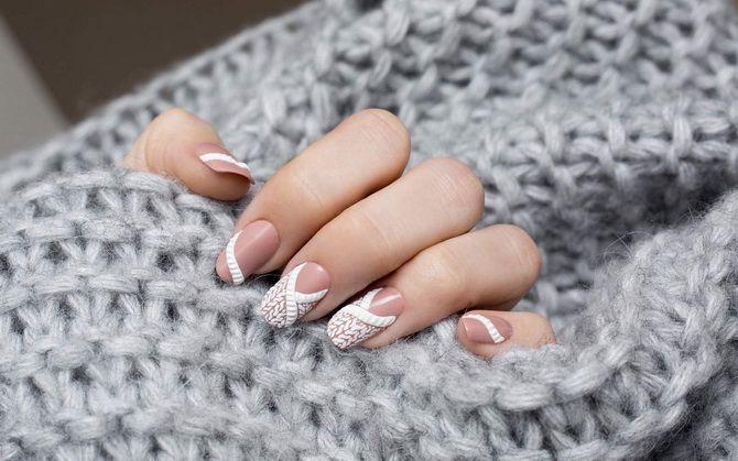 маникюр  узор свитер