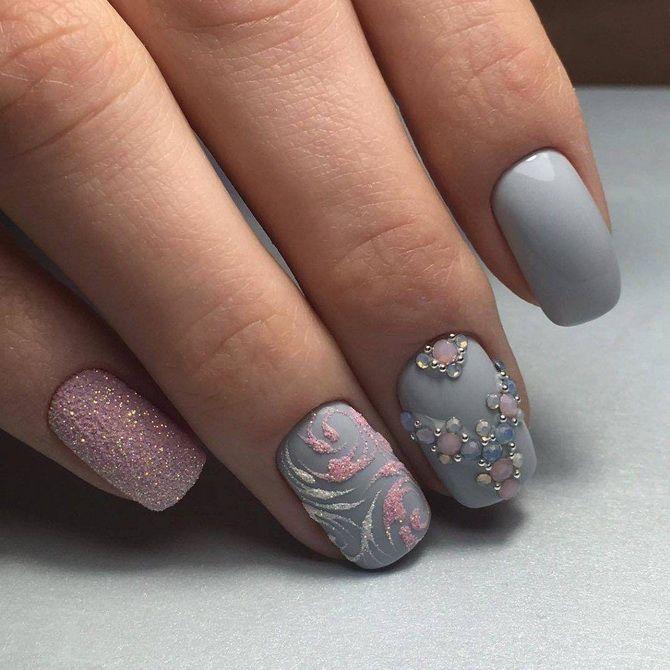 акриловая пудра дизайн ногтей