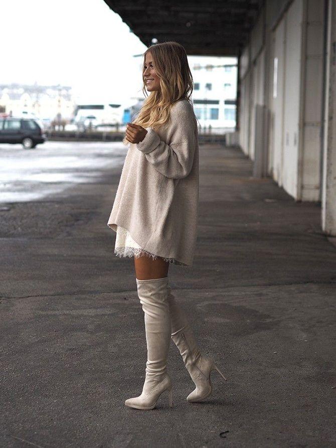 Зимние свитера с модной обувью 2019-2020
