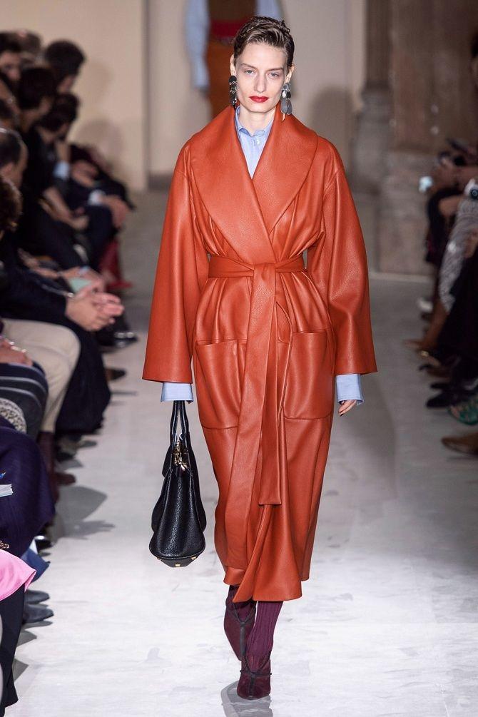 Кожаные куртки и пальто зимней моды 2019-2020 года