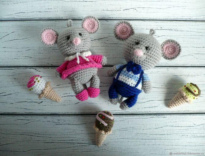 елочные игрушки мышки своими руками 2020