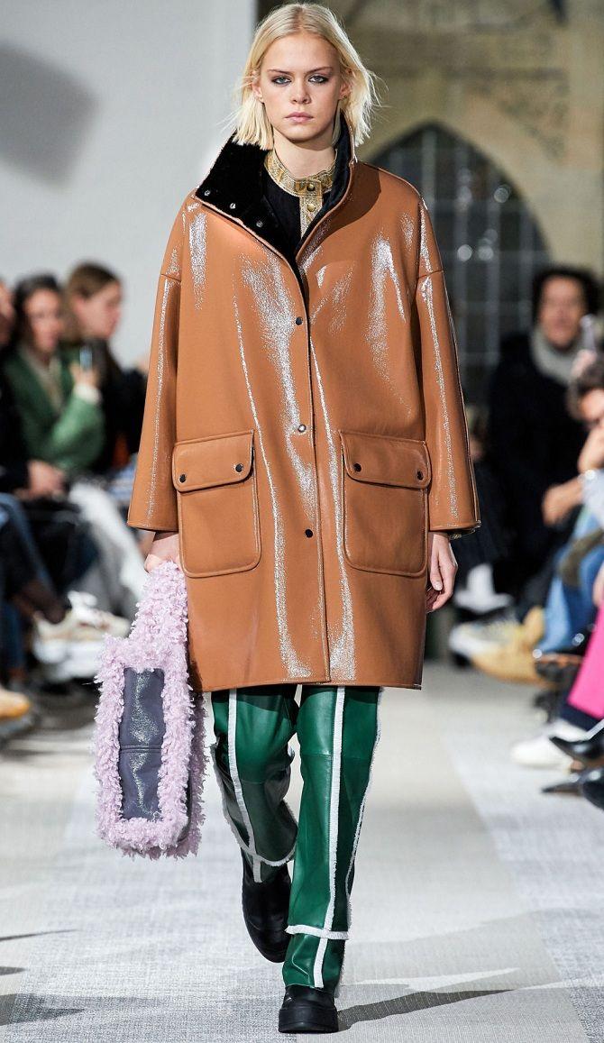 Кожаные куртки и пальто  моды 2019-2020 года