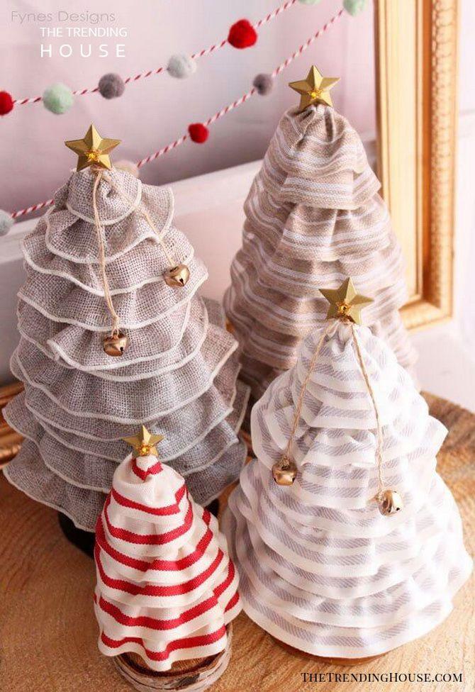 новогодние елки из ткани своими руками