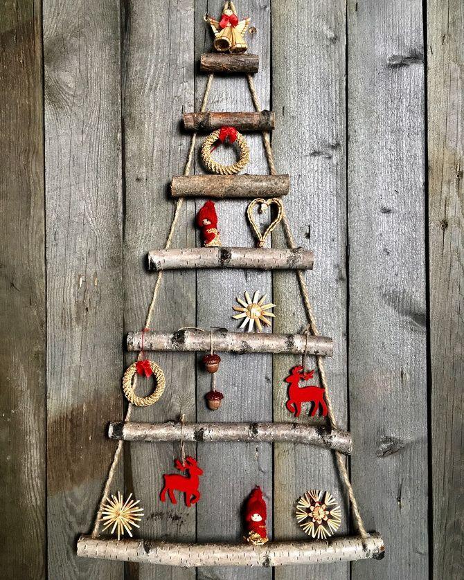 новогодний праздник елка из веток