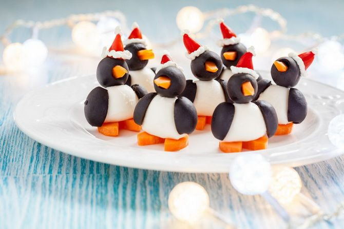 вкусные закуски пингвинчики фото