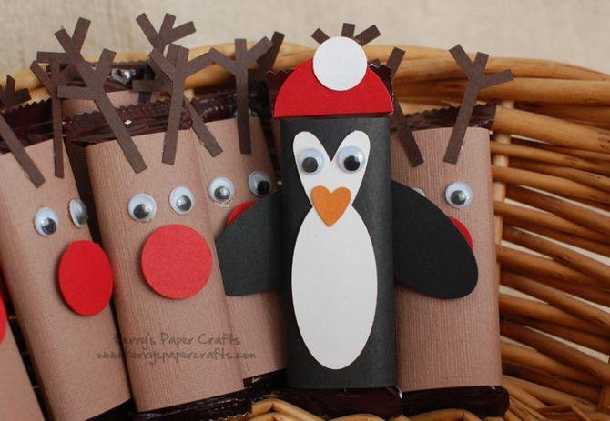 пингвины елочные украшения из бумаги
