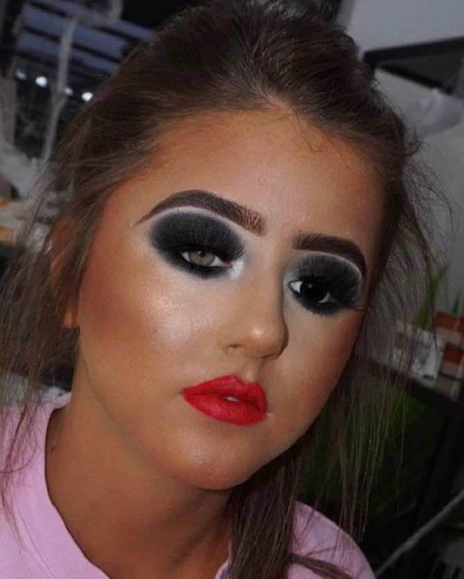 жахливий макіяж