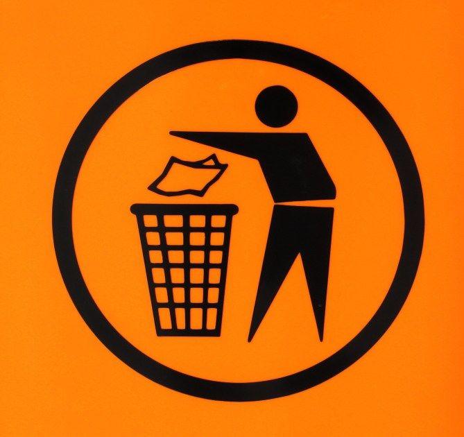 знак не мусорить