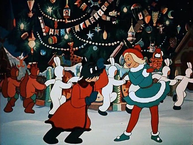 советские мультфильмы Новогодняя ночь