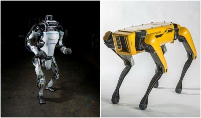 Boston Dynamics  Роботы-собаки Atlas и SpotMini