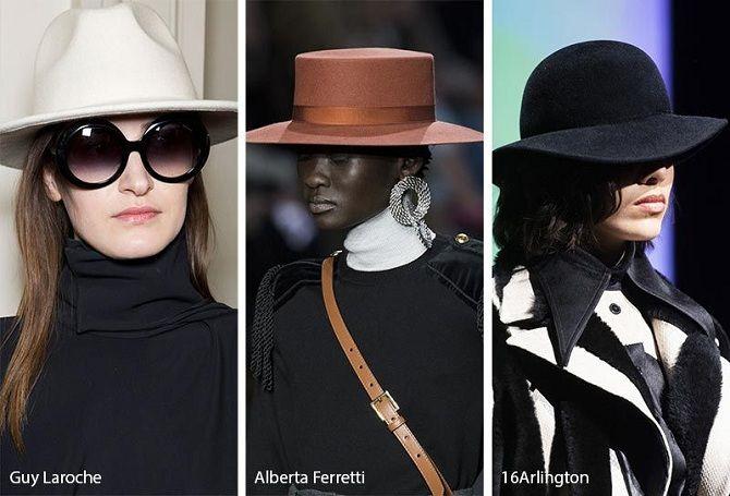 Шляпы зима 2019-2020 года