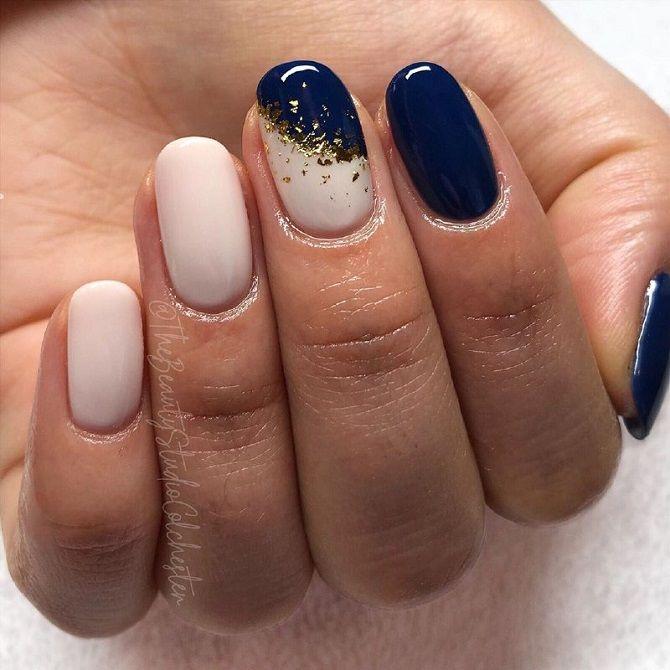 новогодний маникюр фото ногти