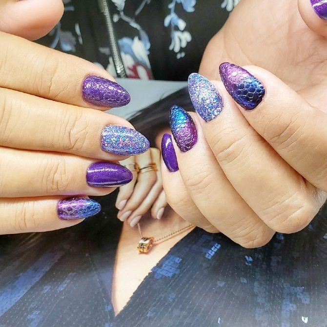 дизайн ногтей мыльная пена