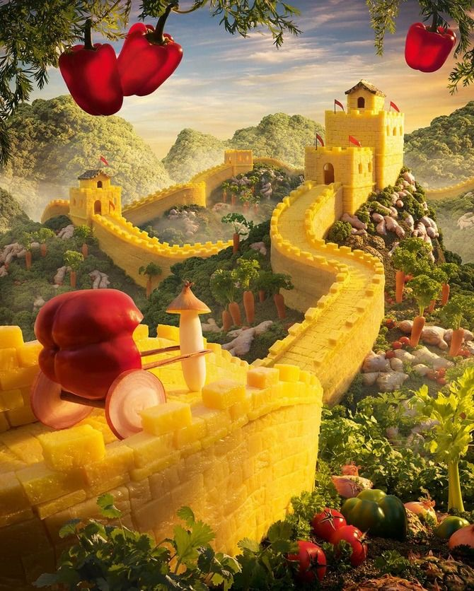 съедобная картина Китайская стена