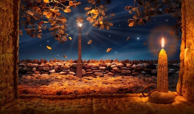 съедобная картина Кукурузная свеча