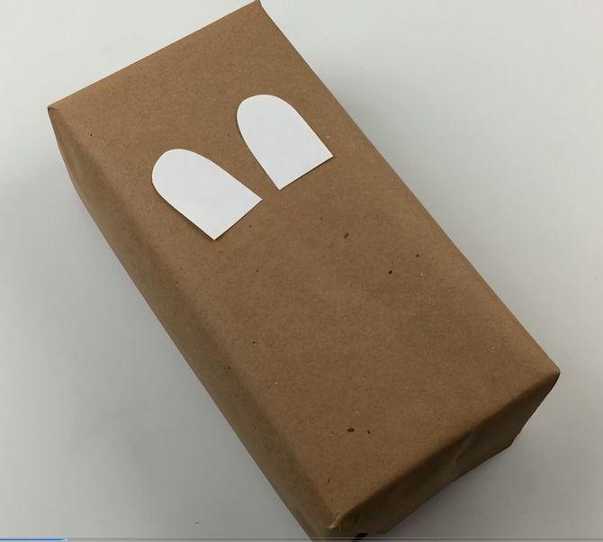 упаковка детского подарка лось