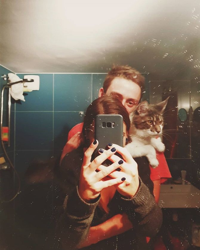 selfie for the cat