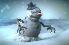 злой снеговик
