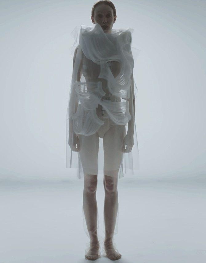креативные платья из органзы