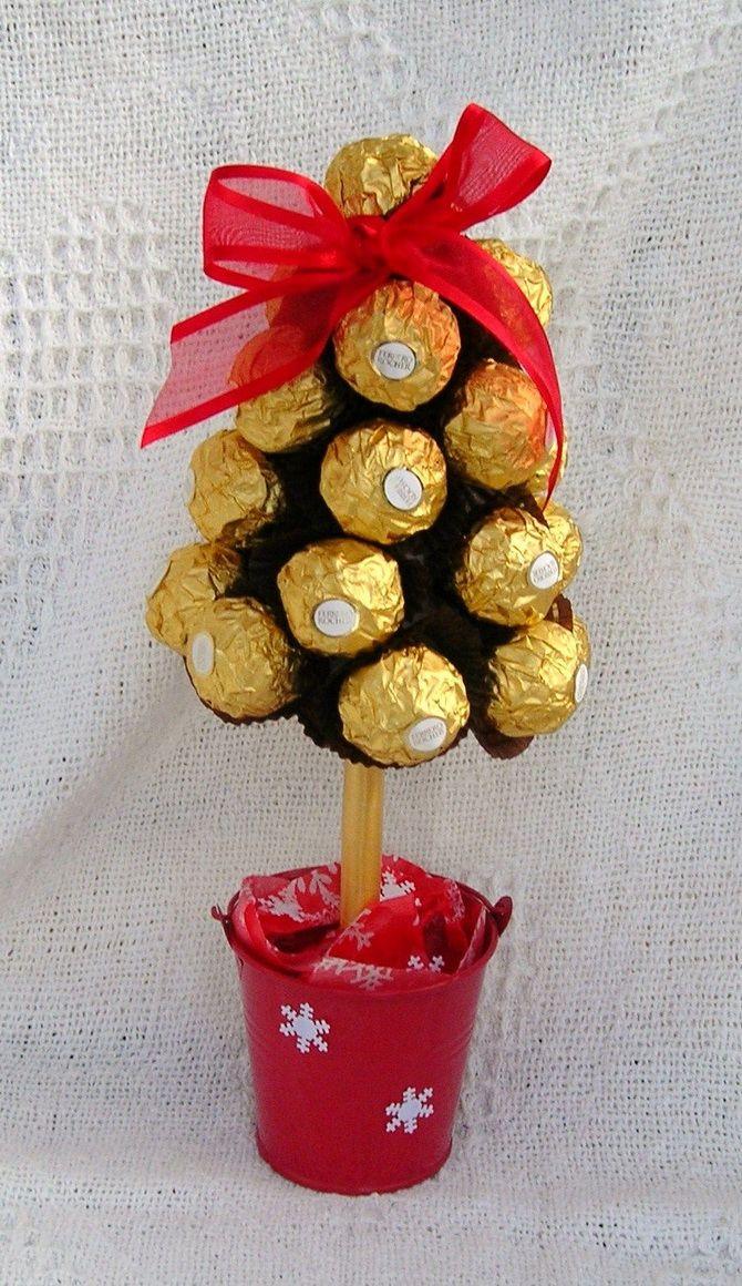 топиарий из конфет фереро