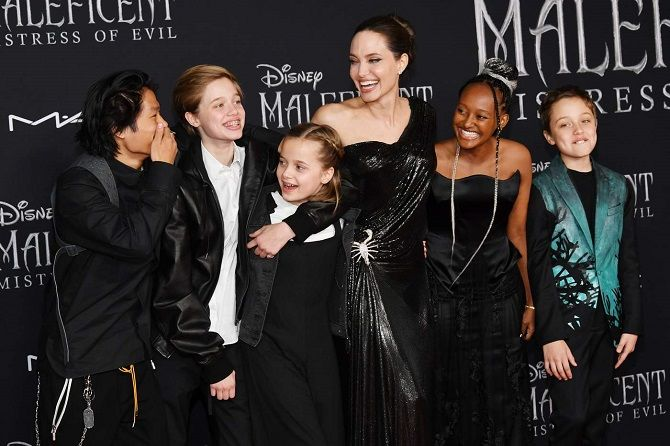 Jolie and children