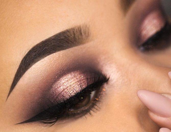макіяж на новий рік для карих очей