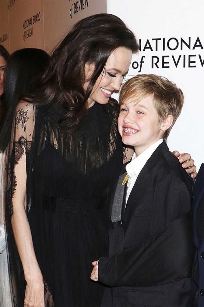 Jolie and daughter